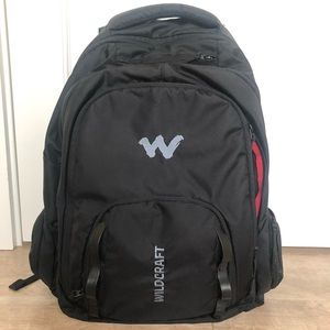 Utility backpack with a laptop sleeve in black.